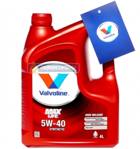 VALVOLINE MaxLife 5W40 SYNTHETIC 4L